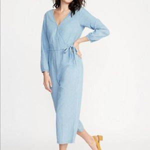 Old navy chambray jumpsuit xxl